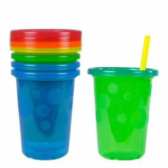 The First Years Take & Toss Spill-Proof Straw Cups - 10Oz/300ml, 4 Pack
