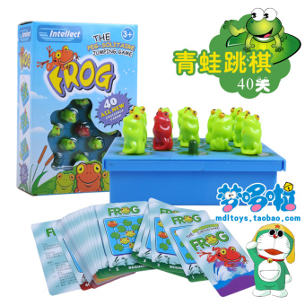 Thinking board game educational toys parent-child game frogcheckers