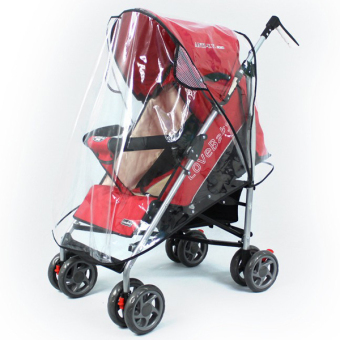 Universal Pushchair Stroller Pram Buggy Transparent Rainproof CoverRain Shade