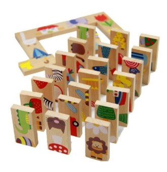 Wooden children's wooden blocks early childhood educational toys