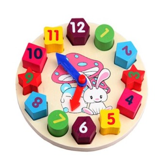 Wooden with numbers pairing Educational Building Blocks clock building blocks