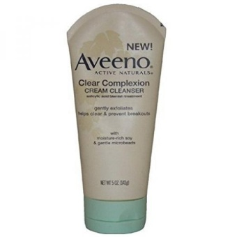 Aveeno Active Naturals Clear Complexion Cream Cleanser 5 Oz (Pack of 2) - intl