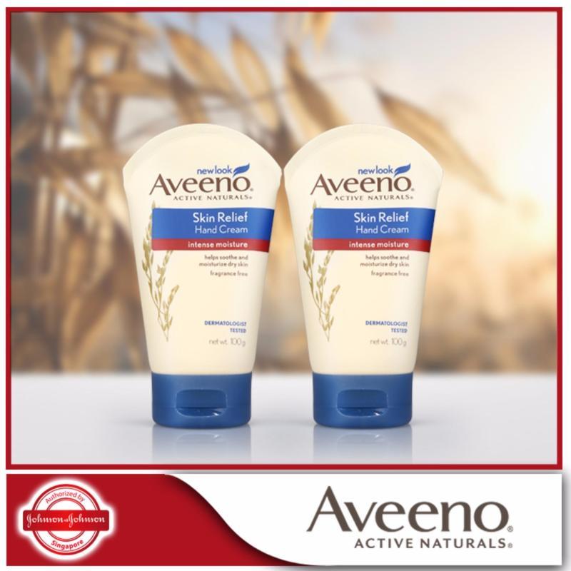 Buy Aveeno Hand Cream Skin Relief 100g x 2 pcs Singapore
