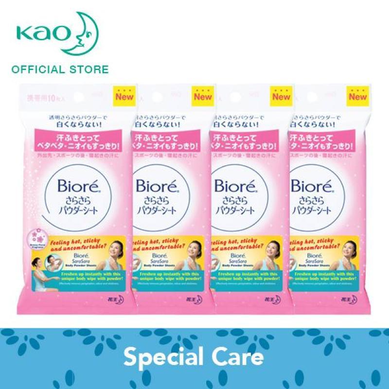 Buy Biore Sara Sara Body Powder Sheets (Floral) 10s x4 Singapore