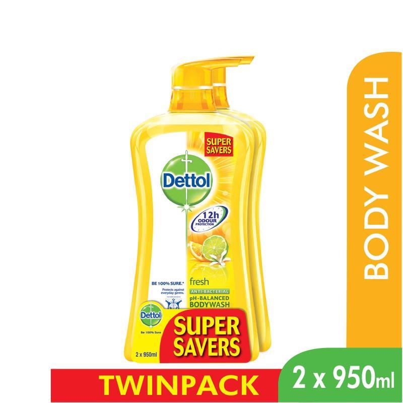 Buy Dettol Body Wash Fresh P&P 950Ml x 2 Singapore