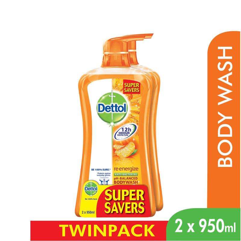 Buy Dettol Body Wash Re-Energize P&P 950Ml x 2 Singapore