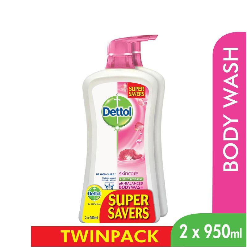Buy Dettol Body Wash Skincare P&P 950Ml x 2 Singapore