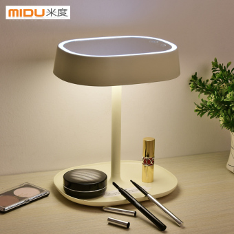 MUID with light makeup mirror LED princess lamp bedroom lampbedside lamp desktop vanity mirror creative girls gift