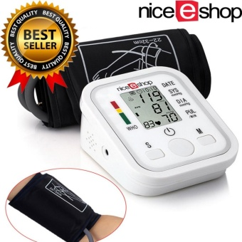 niceEshop Arm Blood Pressure Monitor LCD Heart Beat HomeSphgmomanometer, White - intl