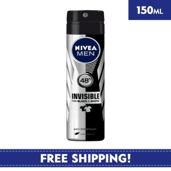 Nivea Deodorant for Men Spray Invisible Black & White (Power) 150ml