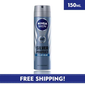 Nivea Deodorant for Men Spray Silver Protect (Polar Blue) 150ml