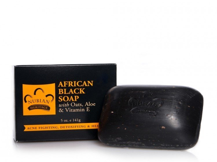 Nubian heritage african black soap for acne