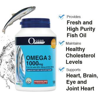 Ocean health omega 3 fish oil 1000mg 180s softgels for Fish oil memory