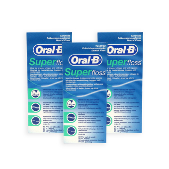 Oral-B Super Floss 50s x 3 Boxes - 7369