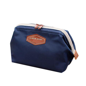 Portable Travel Wash Makeup Bag Cosmetic Pouch Clutch Organizer (DarkBlue)