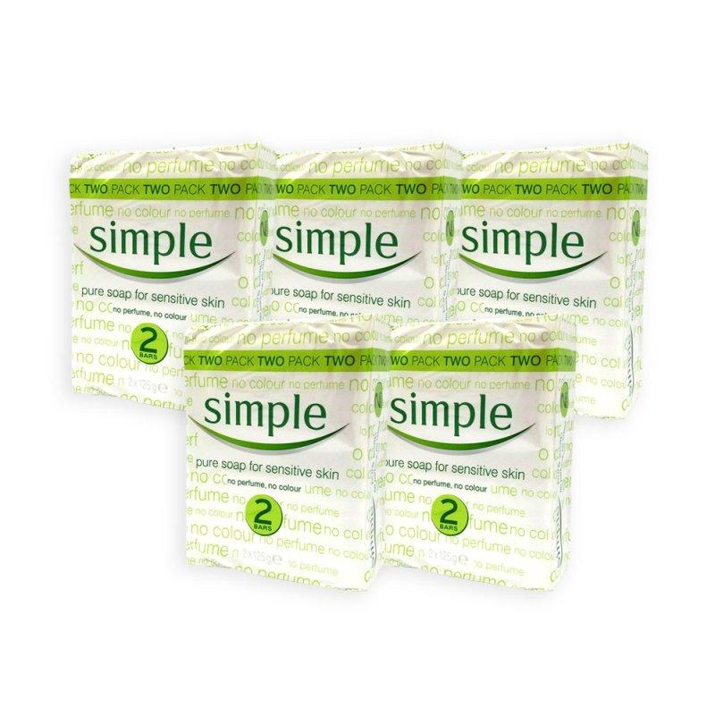 Buy (Pack of 5) Simple Sensitive Skin Pure Soap 125g x 2 - 1068 Singapore