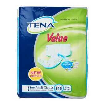 Tena Value Adult Diapers Pack of 10 - Large