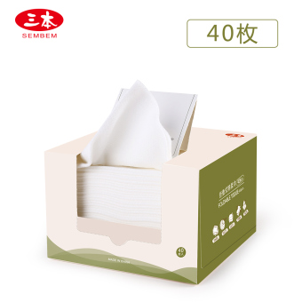 Three folding-dimensional flexible disposable face towel