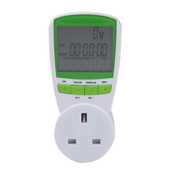 230V Energy Meter Watt Voltage Volt Meter Hertz Power Analyzer Factor UK (Green)