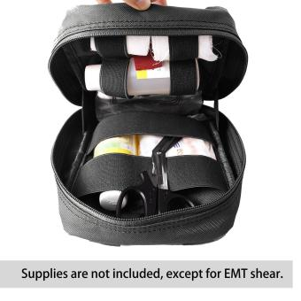 leegoal Molle Tactical Empty Medical Kits First Aid Bag - Black