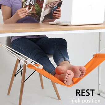 LR fatigue on the table office foot hammock