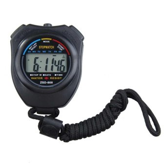 New Digital Running Timer Chronograph Sports Stopwatch Counter withStrap - intl