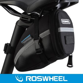 Roswheel Bike Tail Saddle Bag With Velcro (Black)