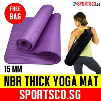 SPORTSCO 15mm NBR Thick Yoga Exercise Mat (Purple)
