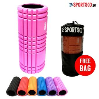 SPORTSCO Flexi Grid Foam Roller (Pink with Black Inner Core) (SG)