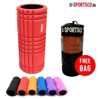 SPORTSCO Flexi Grid Foam Roller (Red with Black Inner Core) (SG)