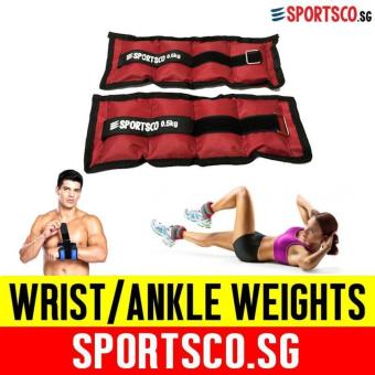 SPORTSCO Oxford Wrist / Ankle Weight 0.5KG each - Sold in Pair(Red) (SG)