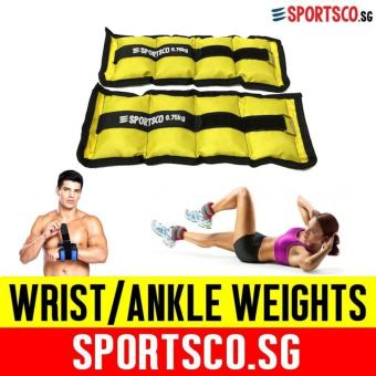 SPORTSCO Oxford Wrist / Ankle Weight 0.75KG each - Sold in Pair(Yellow) (SG)