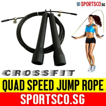 SPORTSCO Quad Speed Jump Rope (Black) (SG)