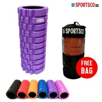 SPORTSCO Standard EVA Foam Roller (Purple with Black Inner Core)(SG)
