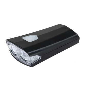 USB Rechargeable Bike Bicycle Cycle LED Front Head Headlight Light(Black) - intl