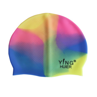 Ying Hui children silicone color New style waterproof swimming cap