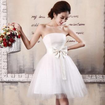 Taobao Autumn Women S European American Big Red Wedding Dress Tutu Short Dresses