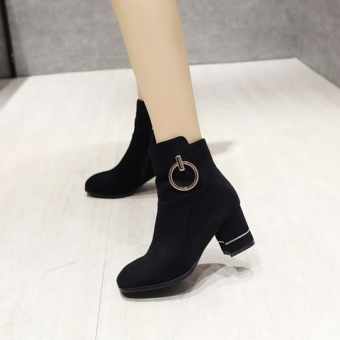 Autumn New style Short Tube Martin boots (Black)