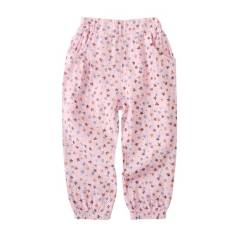 Baby floral mosquito pants girls pants (Pink)