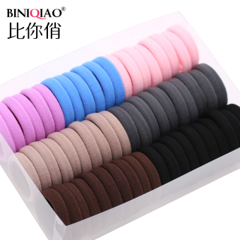 Black seamless High Elastic tousheng hair Ring (D small mixing [60])
