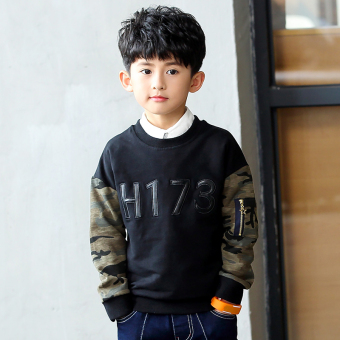 Boys spring models New Style Large children Korean-style long-sleeved hoodie