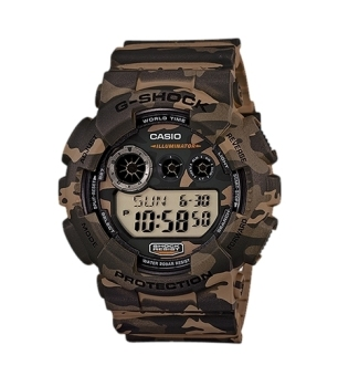 Casio G-Shock Camouflage Series Men's Brown Resin Strap Watch GD120CM-5D