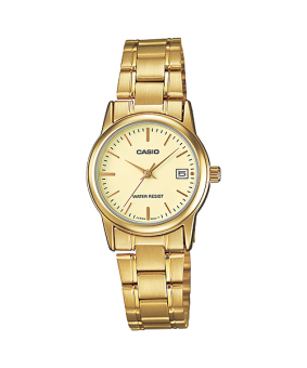 Casio Ladies' Gold Stainless Steel Strap Watch LTP-V002G-9A