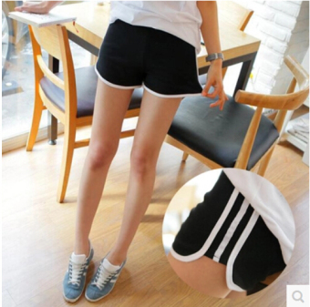 Casual cotton Female Summer I pants I shorts (Black)