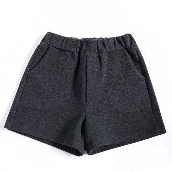 Casual female New style word wide leg pants shorts (Gray)