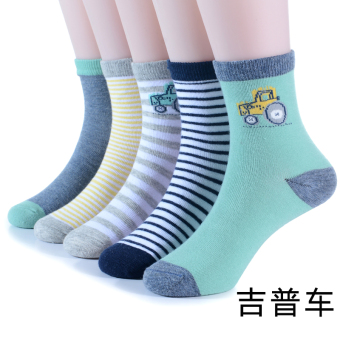 Cotton baby children boys spring and autumn a Three Socks (JEEPcar) (JEEP car)