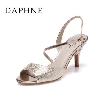 Daphne European and American New Bright side sandals (Gold 120)