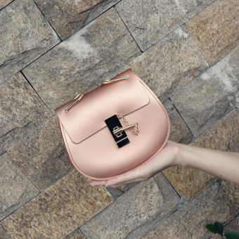 Female New style matte small bag (Rose Gold)