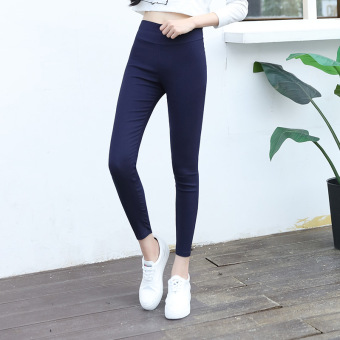 Female New style pencil Pants pants (Navy blue) (Navy blue)
