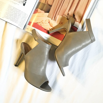 Female Summer sexy high-heeled shoes New style sandals (Gray) (Gray)